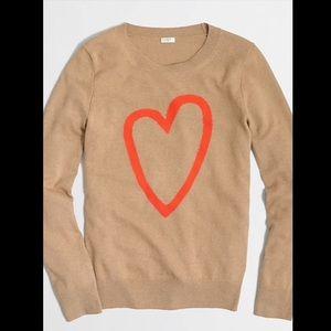 J. Crew intarsia heart sweater ❤️